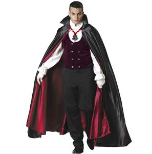 Super Deluxe Gothic Vampire Costume, Halloween Costumes for Men, Men