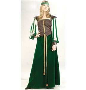 Robin Hood Costume, Adult Maid Marian Costume, Super Deluxe Maid Marian Costume, #N5819