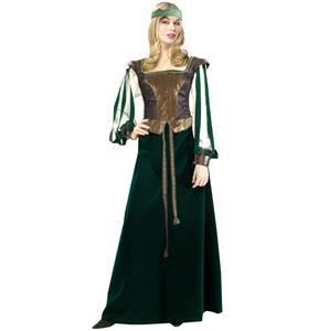 Robin Hood Costume, Adult Maid Marian Costume, Super Deluxe Maid Marian Costume, #N5819