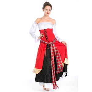 Adult Halloween Costume, Scarlet Renaissance Costume, Medieval Costume, #N5569