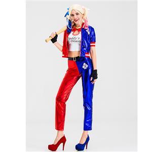 Plus Size Suicide Harley Halloween Costume, Clown Cosplay Costume, Batman Harley Quinn Costume Women, Suicide Squad Costume, Evil Clown Halloween Costume, #N19880