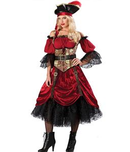 Swashbuckling Scarlett Costume, Womens Sexy Swashbuckler Costume, #N6721