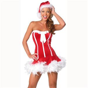 Sweet Santa Dress, Santa Sweetie Costume, Sexy Christmas costume wholesale, #XT6006