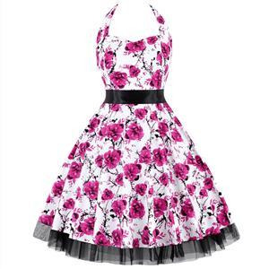 Retro Dresses for Women, Vintage Dresses for Women, Sexy Dresses for Women Cocktail Party, Casual Mini dress, Flower Print Swing Daily Dress, #N14863