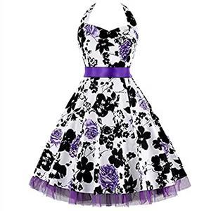 Retro Dresses for Women, Vintage Dresses for Women, Sexy Dresses for Women Cocktail Party, Casual Mini dress, Flower Print Swing Daily Dress, #N14864