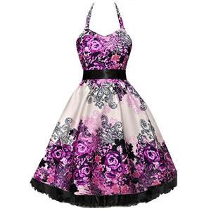 Retro Dresses for Women, Vintage Dresses for Women, Sexy Dresses for Women Cocktail Party, Casual Mini dress, Flower Print Swing Daily Dress, #N14865