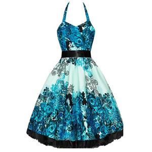 Retro Dresses for Women, Vintage Dresses for Women, Sexy Dresses for Women Cocktail Party, Casual Mini dress, Flower Print Swing Daily Dress, #N14866