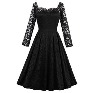 Evening Party Black Dress, Cocktail Party Dress for Women, Semi Formal Dress for juniors, Black Lace Dress for Women, Casual Black Dress for Women Party, Black Floral Lace Dress, #N14191