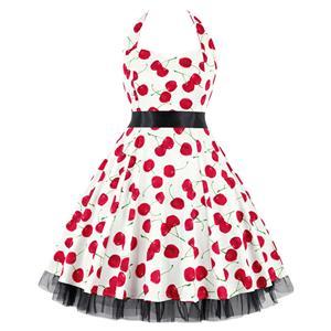 Retro Dresses for Women, Vintage Dresses for Women, Sexy Dresses for Women Cocktail Party, Casual Mini dress, Cherry Print Swing Daily Dress, #N14853