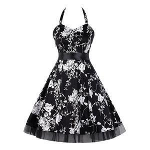Retro Dresses for Women, Vintage Dresses for Women, Sexy Dresses for Women Cocktail Party, Casual Mini dress, Flower Print Swing Daily Dress, #N14850