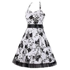 Retro Dresses for Women, Vintage Dresses for Women, Sexy Dresses for Women Cocktail Party, Casual Mini dress, Flower Print Swing Daily Dress, #N14849