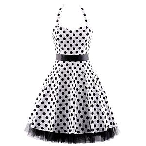 Retro Dresses for Women, Vintage Dresses for Women, Sexy Dresses for Women Cocktail Party, Casual Mini dress, Polka Dot Swing Daily Dress, #N14839