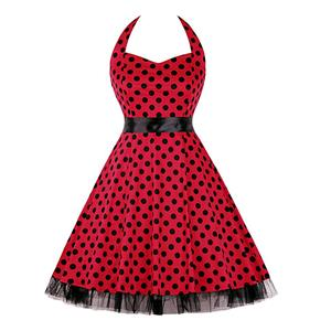 Retro Dresses for Women, Vintage Dresses for Women, Sexy Dresses for Women Cocktail Party, Casual Mini dress, Polka Dot Swing Daily Dress, #N14840