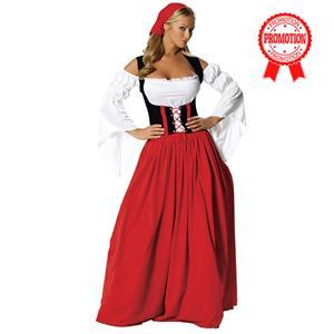 Swiss Miss Oktoberfest Costume, Swiss Miss Costume, German Beer Girl Wench Oktoberfest Costume, #N5979
