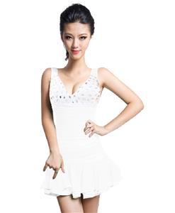 Naughty Ruffled Hem Mini Dress, Mini dress with Mini Pleated Hem, Pleated Hem Club Dress, #N7502