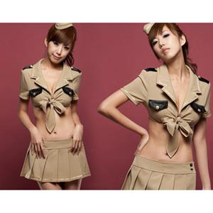 Sexy Army Costume, Temptation Military Costume, Sexy Self-Tie Military Costume, #N8465