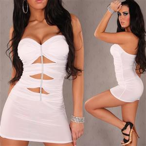 The Tease Mini Dress, Tube Dress, white Dress, #N4740