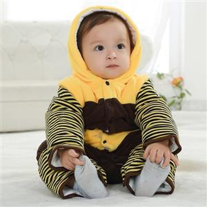 Bee Jumpsuit Romper Baby, Halloween Bee Costume Baby, Little Bee Climbing Clothes baby, #N6292