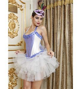 Bridal Corset, Tie Strap Burlesque Corset, sexy Corset, #M1527