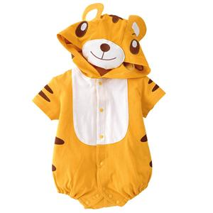 Halloween animal Costume Baby, Tiger Climbing Clothes Baby, Baby Tiger Short-Sleeved Romper Jumpsuit, #N5859