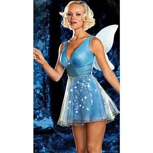 True Blue Fairy Light Up Costume, Sexy Light Up Fairy Halloween Costume, Fairy Light Up Costume, #N4257