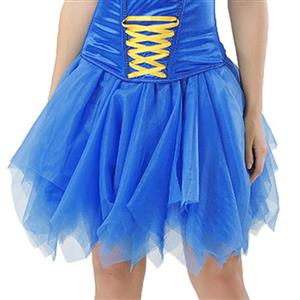 Mesh Skirt, Ballerina Style Skirt, Sexy Tulle Skirt, Tutu Tulle Mini Petticoat, Zigzag Tulle Mesh Skirt, Elastic Tulle Skirt Blue, #HG15005