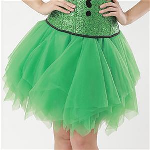 Mesh Skirt, Ballerina Style Skirt, Sexy Tulle Skirt, Tutu Tulle Mini Petticoat, Zigzag Tulle Mesh Skirt, Elastic Tulle Skirt Green, #HG15007