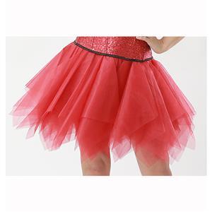 Mesh Skirt, Ballerina Style Skirt, Sexy Tulle Skirt, Tutu Tulle Mini Petticoat, Zigzag Tulle Mesh Skirt, Elastic Tulle Skirt Red, #HG15008
