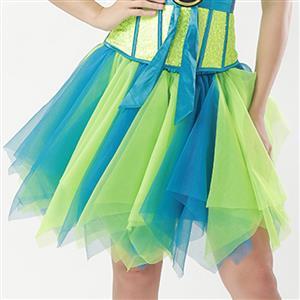 Mesh Skirt, Ballerina Style Skirt, Sexy Tulle Skirt, Tutu Tulle Mini Petticoat, Zigzag Tulle Mesh Skirt, Elastic Tulle Skirt Blue, #HG15003