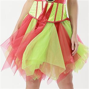 Mesh Skirt, Ballerina Style Skirt, Sexy Tulle Skirt, Tutu Tulle Mini Petticoat, Zigzag Tulle Mesh Skirt, Elastic Tulle Skirt, #HG15004