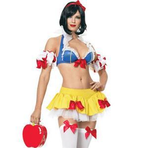 Snow Princess Costume, Ultra Sexy Snow White Costume, Sexy Snow White Princess Lingerie, #M8448