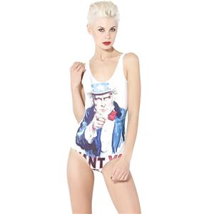 Uncle Sam Swimsuit, Uncle Sam Beach One-piece Wear, Uncle Sam Swimwear, #N7951