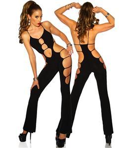 Halter Jumpsuit, Jumpsuit lingerie, black Jumpsuit, #C2432