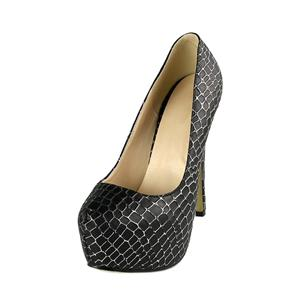 Black Pumps High Heels, Lady Round Toe Shoes, Cheap Snake Skin Pattern High-heeled Shoes, Hot Sale Discount Women