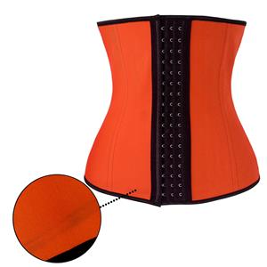 Latex Underbust Corset, Elastic Body Shaper Bustier, High Quality Orange Steel Bone Underbust Corset, Plus Size Corset, #N18662