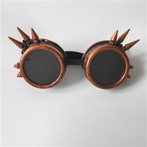 Vintage Industrial Style Vampire Costume, Halloween Cosplay Goggles, Ball Goggles Accessory, Gothic Metal Goggles Accessory, Retro Masquerade Party Goggles, Sexy Party Accessory, Hot Sale Masquerade Mask, Sexy Cosplay Mask Goggles, #MS19509