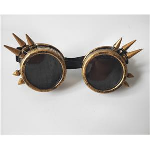 Steampunk Antiqued Bronze Metallic Color Rivet Masquerade Party Accessory Glasses Goggles MS19510