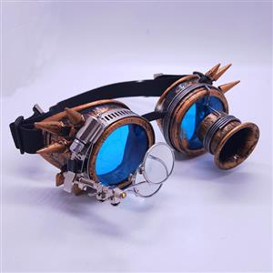 Steampunk Magnifier Rivet Glasses Halloween Masquerade Party Goggles MS19800