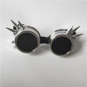 Vintage Industrial Style Vampire Costume, Halloween Cosplay Goggles, Ball Goggles Accessory, Gothic Metal Goggles Accessory, Retro Masquerade Party Goggles, Sexy Party Accessory, Hot Sale Masquerade Mask, Sexy Cosplay Mask Goggles, #MS19508