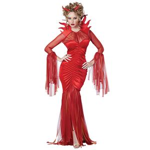 Red Devil Adult Halloween Costume, High Priestess Role Play Costume, Classical Adult Medieval Vampire Halloween Costume, Deluxe Medieval High Priestess Costume, Royal Vampire Masquerade Costume, #N19554