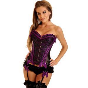 Vegas Showgirl Burlesque Corset, Vegas Showgirl Corset, purple Corset, #N2897