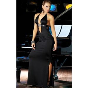 Long Ultra Low Cut Gown, Backless Gown, Long Gown, #N2603