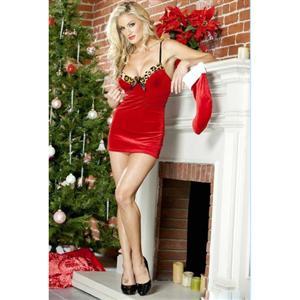 Velvet Mini Dress, Santa Dress, Velvet Dress, #XT4704