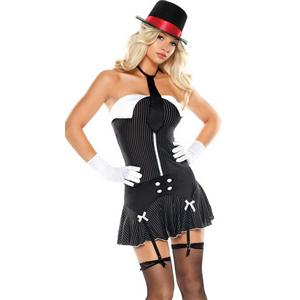 Dirty Sexy Money Gangster Girl Costume, Female Gangster Costume, Women Gangster Costume, #N2903