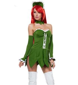 Sexy Green Venus Fly Trap Costume, Hot Sale Halloween Costume, Cheap Cosplay Costume, #N10640