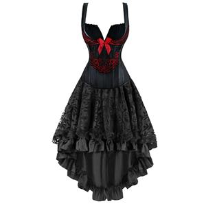 Victorian Gothic Dancing Corset Skirt Set, Women