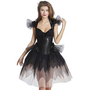Corset and Skirt Set, Skirt Set with Corset, Fashion Corset and Petticoat for Women,Plus size patticoat, #N11699