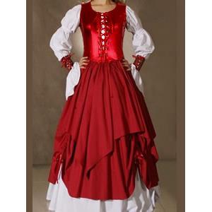Victorian Gothic Lolita Dress, Gown Prom Steampunk Punk, Steampunk Punk Dress, #N5464