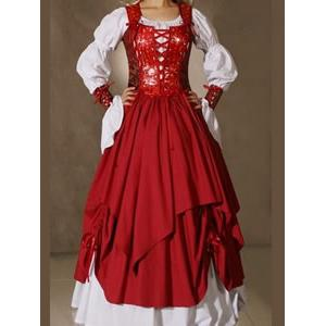 Victorian Gothic Lolita Dress, Gown Prom Steampunk Punk, Steampunk Punk Dress, #N5464