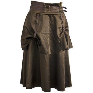 Steampunk Skirt, Satin Skirt for Women, Gothic Cosplay Skirt, Halloween Costume Skirt, Plus Size Skirt, Pirate Costume, #N11949
